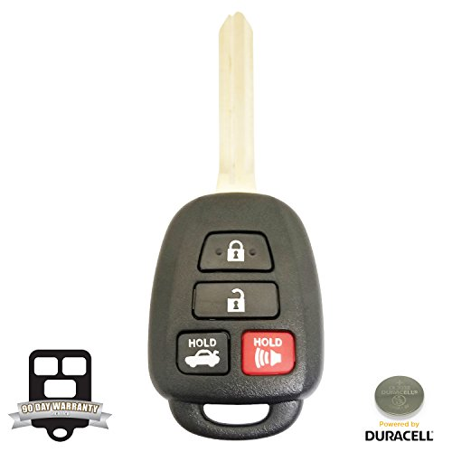 Camry Toyota Replacement Oem (REMOTE STORE New 4 Button Replacement Shell, Buttons & Duracell Battery Replacement for Toyota Remote Key Head)