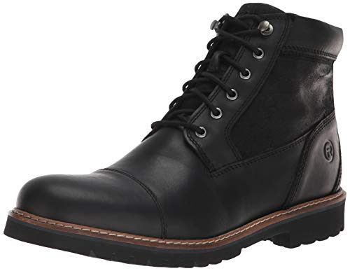 Rockport Men's Marshall Rugged Cap Toe Boot, black, 10.5 M US