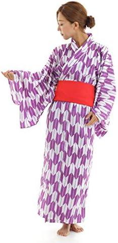 マジックナイト 矢がすり着物 紫 和風 コスチューム 150cm-168cm