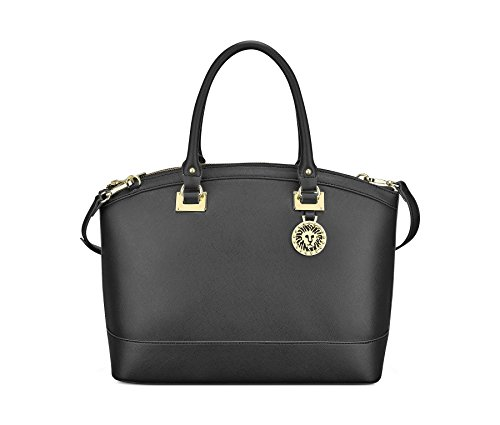 Anne Klein New Recruits Dome Large Satchel Bag, Black, One Size by Anne Klein