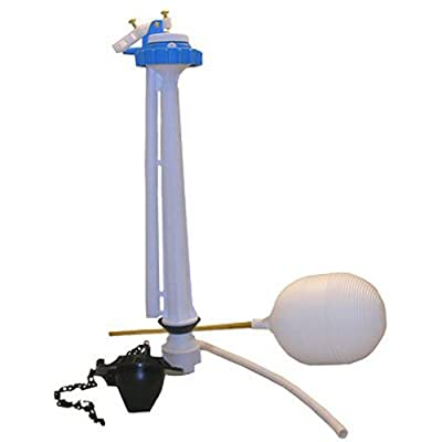 LASCO 04-4047 Toilet Ballcock with Anti-Syphon Plastic 8-1/2-Inch Fill Valve Kit with Float, Float Rod, Refill Tube, Flapper and Nut