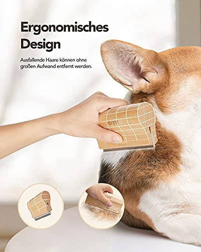 Honpal Haustier Hundebürste Katzenbürste, Haustier Bürsten, Haar Entferner Haustierbürste für Langhaar und Kurzhaar, effektiven Entfernung von Unterwolle und Vorbeugung von Haarballen (S)