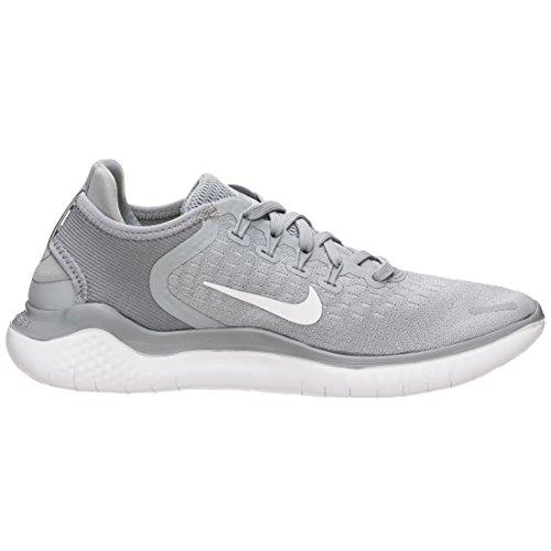 NIKE Women's Free RN 2018 Wolf Grey/White-White-Volt Running Shoes (