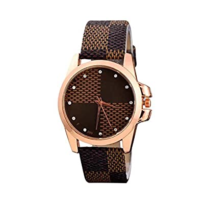 COCOTINA Ladies Fashion Leather Strap Quartz Watches Casual Wristwatch