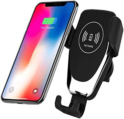 Wireless Charger Car Mount Adjustable Gravity Air Vent Phone Holder for iPhone Samsung Nexus Moto OnePlus HTC Sony Nokia and Android Smartphones Qi Certified