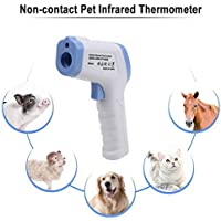 Digital Infrared Thermometer, ELVASEN Digital Laser Temperature Gun Non-Contact Infrared Thermometer for Pets, Baby, Adults