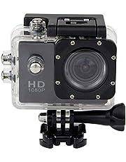 كاميرا مقاومة للماء للرياضات المائية لون اسود 30 م فل اتش دي دي في ار 1080 بي جي سينسور