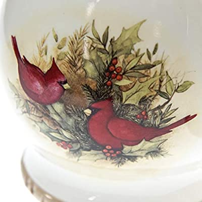 New 2pc Rustic Woodland Critters Collection Red Bird SoupTureen with Ladle Serving Bowl