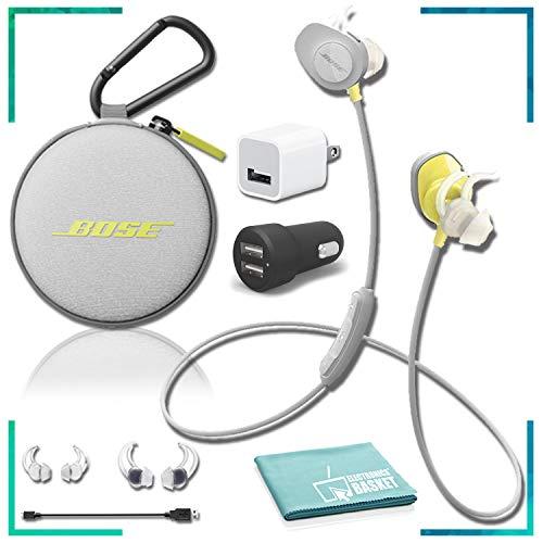Bose SoundSport Wireless in-Ear Headphones (Citron) Essentials Bundle