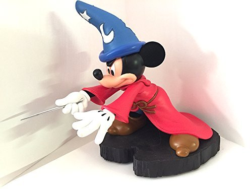 (Disney Parks Sorcerer Mickey Mouse Light Up Figurine Statue)