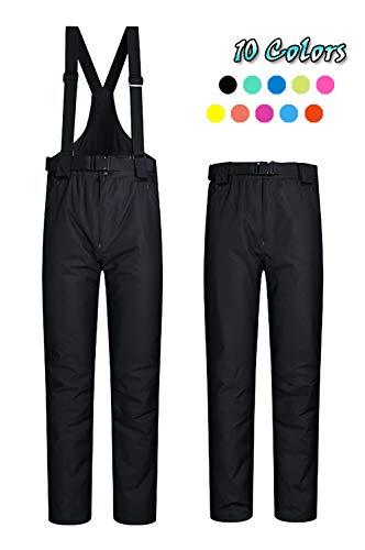 ELETOP Women's Snow Pants Outdoor Waterproof Windproof Ski Pants Warm Insulated Snowboard Pants Black US M (Black Snowboard Pants)