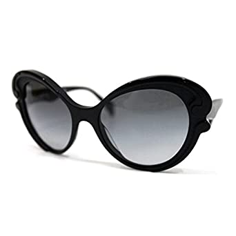 1936e3708b05 (プラダ) PRADA ミニマルバロック バタフライモチーフ サングラス ブラック SPR28N [中古]