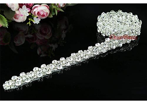1 yard Rhinestone Applique Bridal Crystal Wedding Dress Belt Applique crystal applique for DIY Birdal Sash Wedding Dress