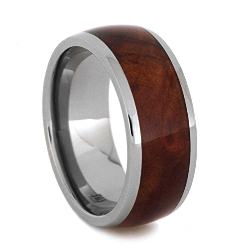 Exotic Coolibah Wood 8mm Titanium Comfort-Fit Band, Size 6.75 by The Men's Jewelry Store (Unisex Jewelry)