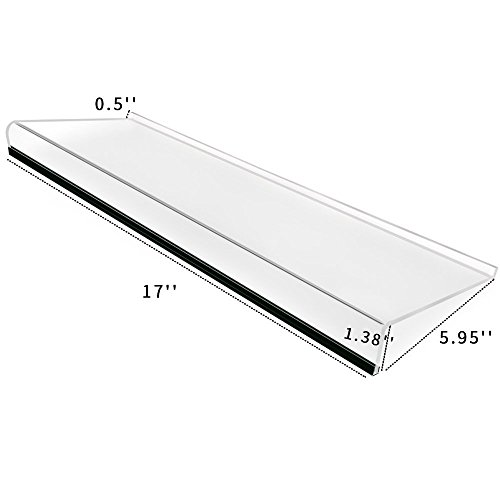 Narayan™ Acrylic Keyboard Stand for Office Desk, 5mm Thickness Acrylic Riser Ticker Than Others, Ergonomic Tilted Computer Holder Home Table with Scratch-Free Protection