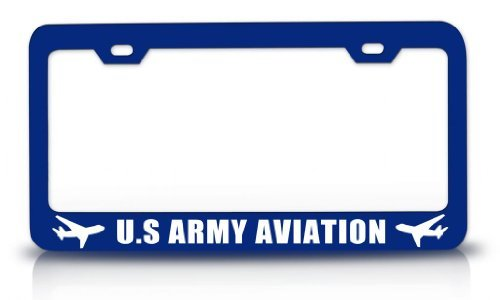 License Plate Covers Us Army Aviation Aviation Steel Metal Blue License Plate (Little Earth License Plate Purse)