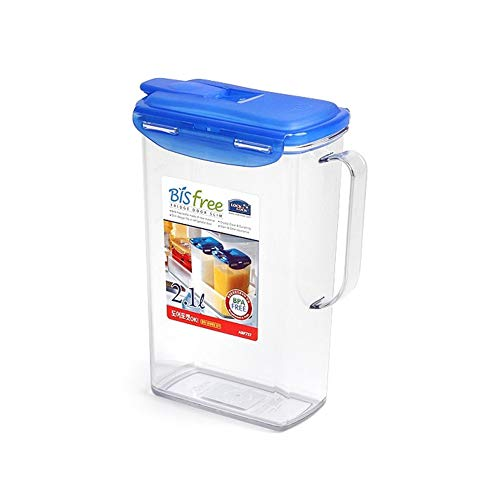 9 Inch Pitcher - BPA-FREE Slim Fridge Door Pitcher 2.1L