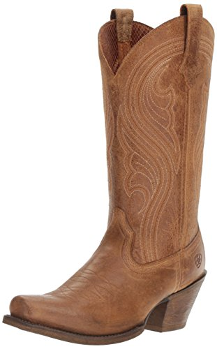 Ariat Women's Lively Western Cowboy Boot, Old West Brown, 8.5 B US