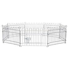 Dibea FG00550, Parque Jaula para Mascotas pequeñas (Altura 38 cm) recinto Plegable con Puerta, (AxL) 38x59 cm x 8 Piezas (Otra Alturas Varias)