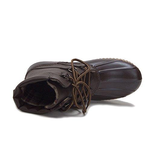 Jaime Aldo Kvinna Urban Snörning Två Ton Flanell Fodrade Vinter Regn Anka Boots Brun