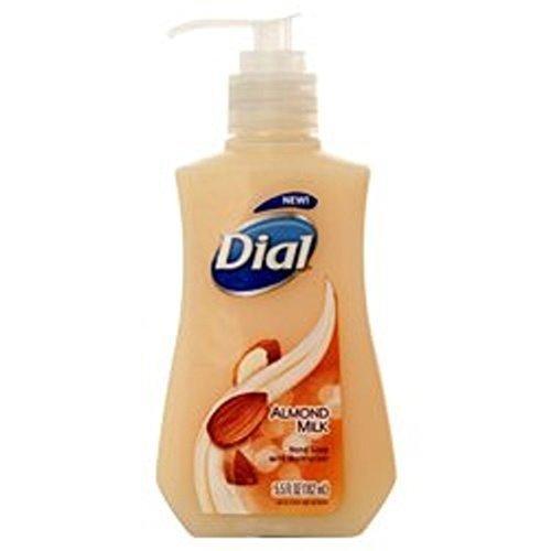 Dial Liquid Hand Soap with Moisturizer, Almond Milk, 5.5 Fl Oz (Pack of 6)