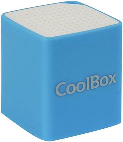 CoolBox CUBEMINI, COO-BTACUM-BL - Altavoz con Bluetooth, color azul