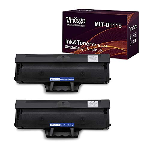 (Vmosgo MLT-D111S Toner Cartridges Compatible for Samsung MLTD111S High Yield, 2 Black, Work with Samsung Xpress M2020W M2022W M2070FW M2070W Printer (~1000 Pages))