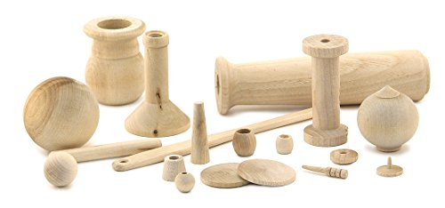 - Hygloss Products, Inc Unfinished Wood Turnings, 1 lb, Natural