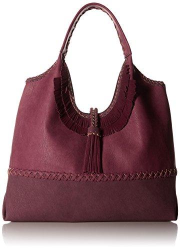 STEVEN by Steve Madden Khloe Shoulder Handbag,Berry
