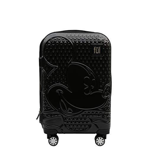 FUL Disney Textured Mickey Mouse Hard Sided Rolling Luggage - 21 inch