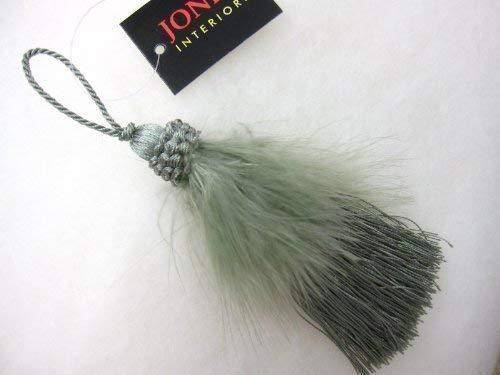 Fifi llave borla - Con volantes pluma decorativo cojín ...