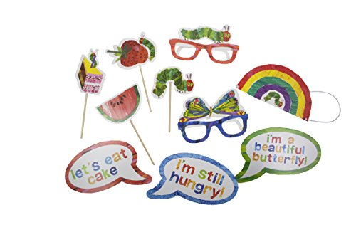 World of Eric Carle, The Very Hungry Caterpillar Party Supplies, Photobooth Dress Up Props, 10 Piece Set -