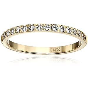 2mm 14k Gold and Diamond Wedding Band (1/3 cttw, G H Color, SI1 SI2 Clarity)