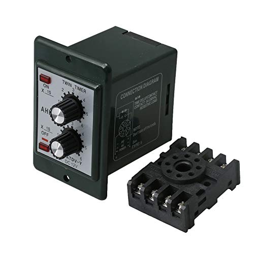 - BQLZR DC 12V Delay Timer ATDV-Y Repeat Cycle Time Relay Adjustable 0-6s 5A Contact