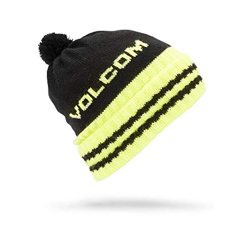 (Volcom Boys' Big Fort Rollover Classic Fit Snow Beanie, Black, One Size)