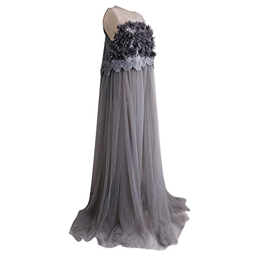 Baosity Maternity Dresses For Photography Gary Lace Maxi Maternity Appliques Dress at Amazon Womens Clothing store: