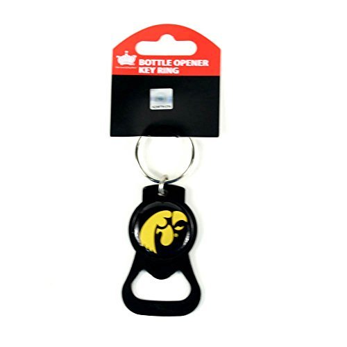 (aminco NCAA Iowa Hawkeyes Blackout Series Bottle Opener Keychain)