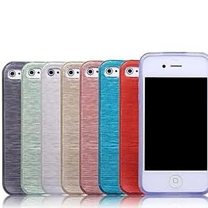 HP- Color sólido cepillado caso suave de TPU para el iPhone 4/4S (colores surtidos) , Rojo