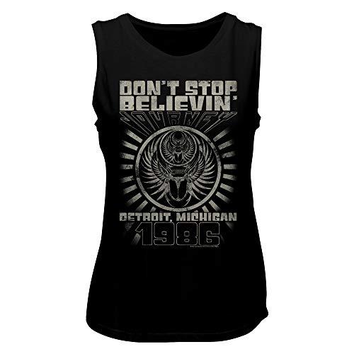 Rock Ladies T-shirt - Journey Rock Band Music Group Don't Stop Believin Detroit 1986 Ladies Tank Top