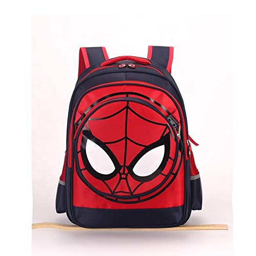 Limitless Kid's Spiderman 3D Backpack (Classic Red-Blue, Waterproof, Durable, 16,5