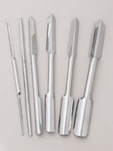 6 piece Stainless Steel U & V Garnishing Carving Set