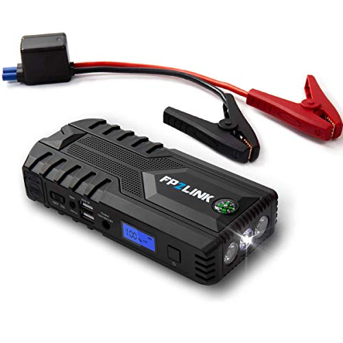 FP2LINK Jump Start Battery Pack with Safety Hammer LED Flashlight and Power Bank