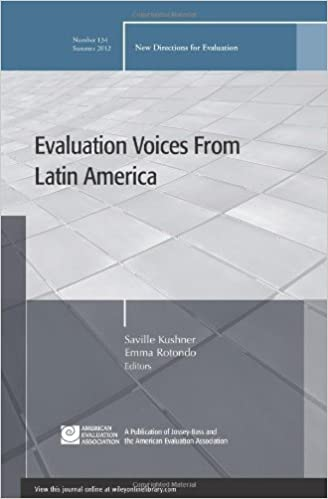 Book Evaluation Voices from Latin America: New Directions for Evaluation, Number 134 (2012-07-10)