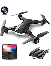 CIVORC M07 Foldable Drone with 1080P HD Dual Camera FPV WiFi RC Quadcopter for Beginners, Optical Flow Positioning, follow me, Gesture Control, Trajectory Flight, 3 different speeds, 360 flips photo