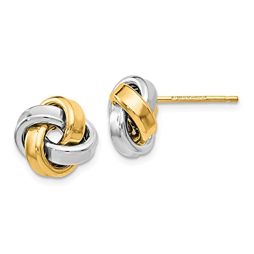 Top 10 Jewelry Gift Leslie's 14k Two-tone Polished Love Knot Earrings by Jewelry Brothers Earrings