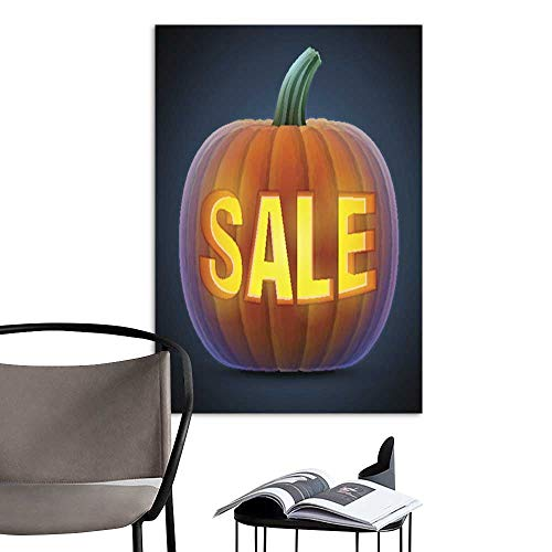 UHOO Canvas Wall Art Painting Halloween Pumpkin with Carving.jpg Nature Canvas Artwork Home Office Wall -