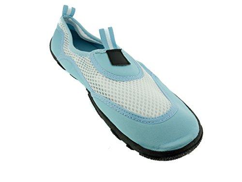 Zapatillas Mujer Aqua Zapatos Azul / Blanco