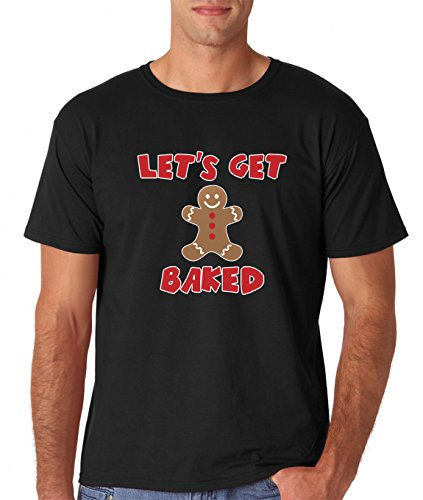 41e0oRAu5lL - AW Fashion's Let's Get Baked for Xmas - Funny Gingerbread Ugly Christmas Premium Men's T-Shirt