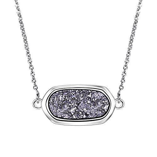 Drusy Quartz Necklace (Valentines Day Gifts WISHIMISS