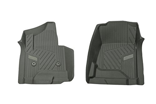 GM 84073612 Premium Front All-Weather Floor Liners in Black with Bowtie Logo, for Crew and Double Cab Vehicles Without Manual 4x4 Shifter